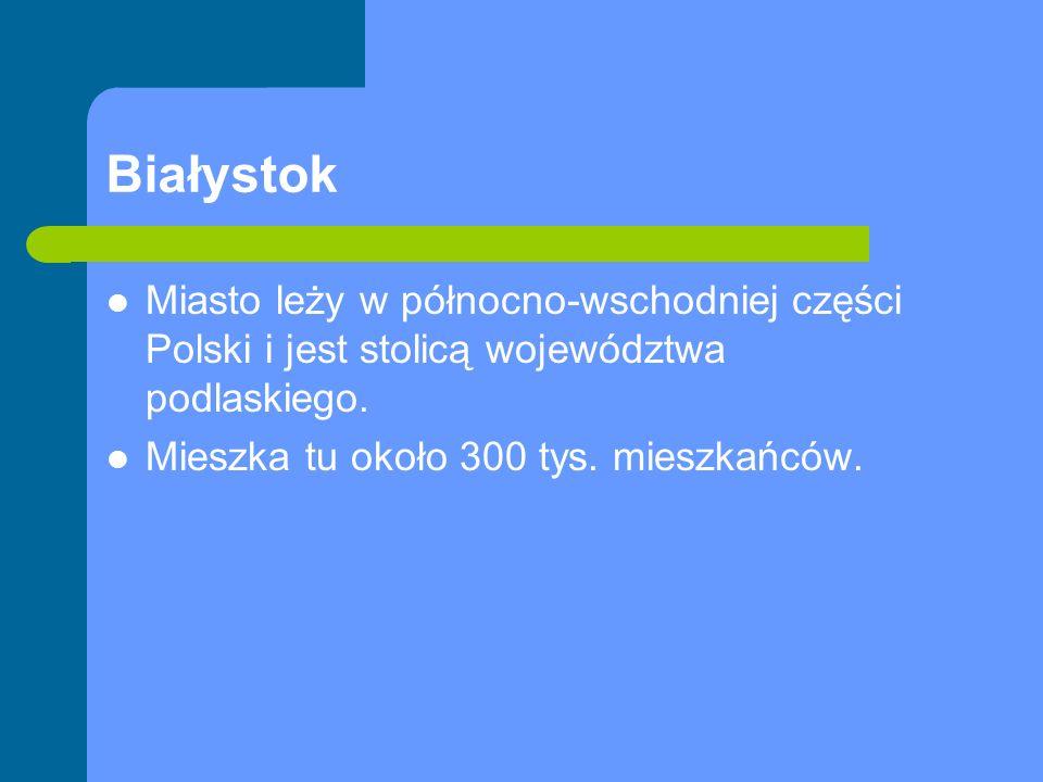 Białystok Miasto leży w północno-wschodniej części Polski i jest stolicą województwa podlaskiego.