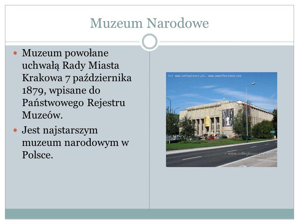 Muzeum Narodowe Muzeum powołane uchwałą Rady Miasta Krakowa 7 października 1879, wpisane do Państwowego Rejestru Muzeów. Jest najstarszym muzeum narod