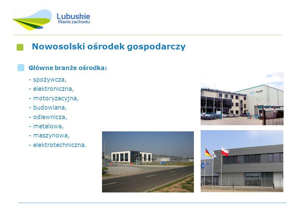 Nowosolski ośrodek gospodarczy Główne branże ośrodka: - spożywcza, - elektroniczna, - motoryzacyjna, - budowlana, - odlewnicza, - metalowa, - maszynow