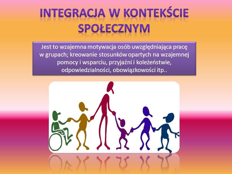 Metody integracyjne mają ułatwić kontakt między osobami.
