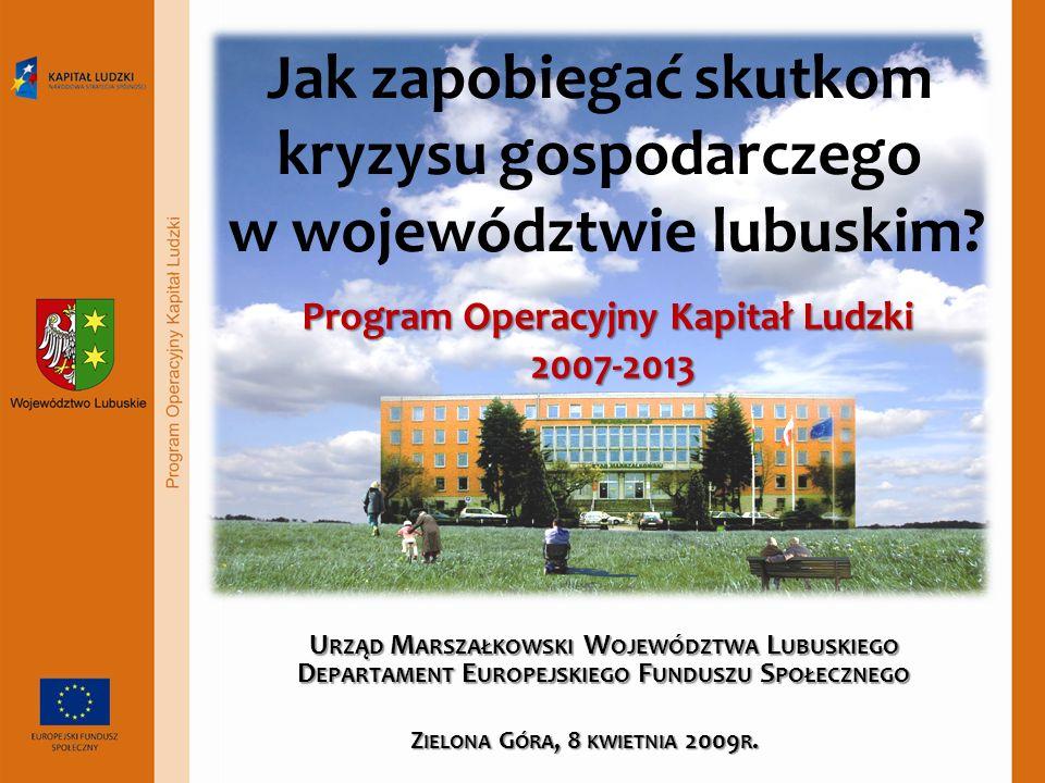 Jak zapobiegać skutkom kryzysu gospodarczego w województwie lubuskim.
