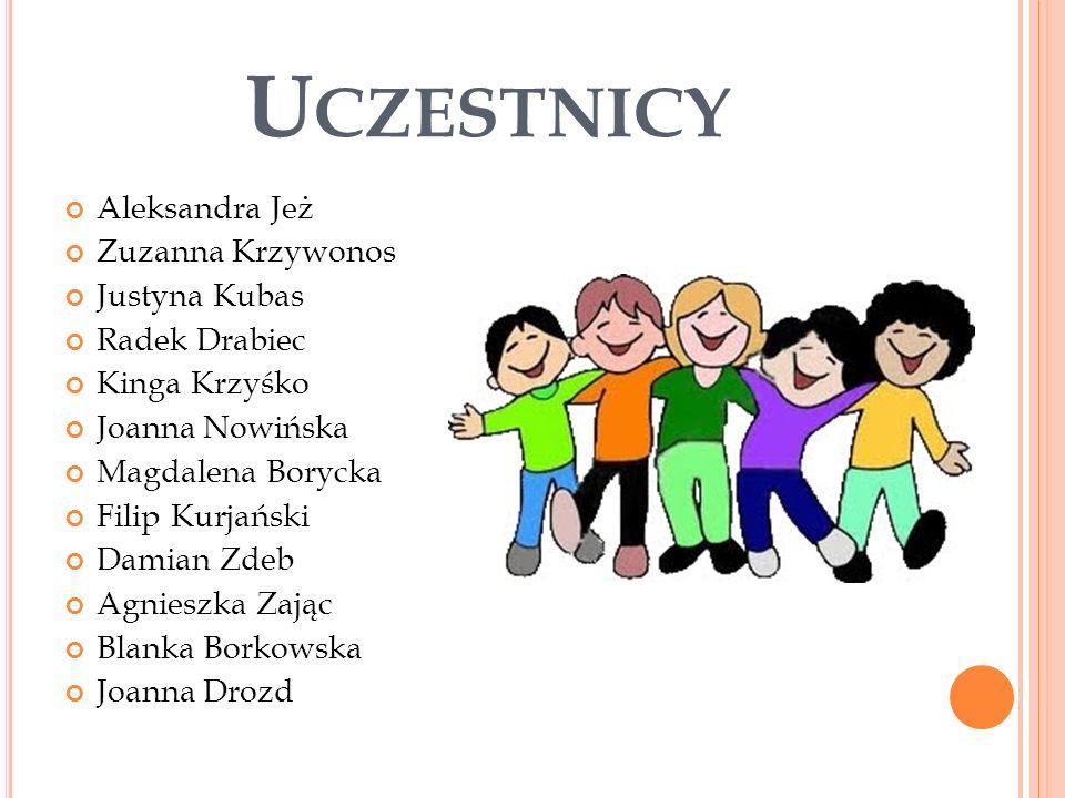 O PIEKUNOWIE Dużą rolę w projekcie odgrywały też pani Katarzyna Tupaj i pani Bożena Kozubal.