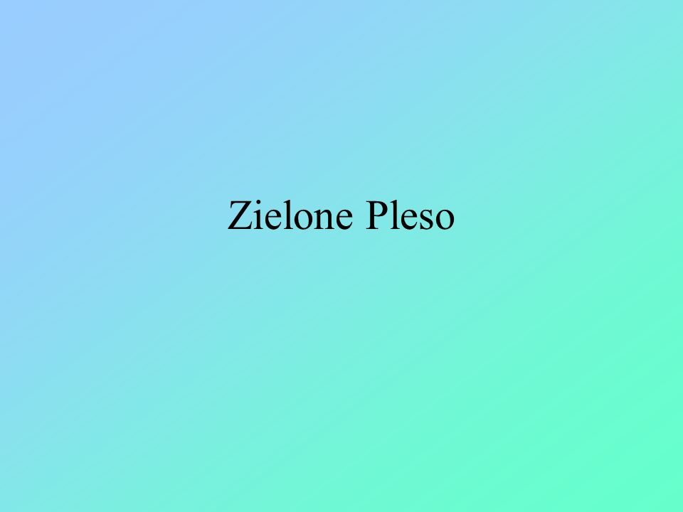 Zielone Pleso
