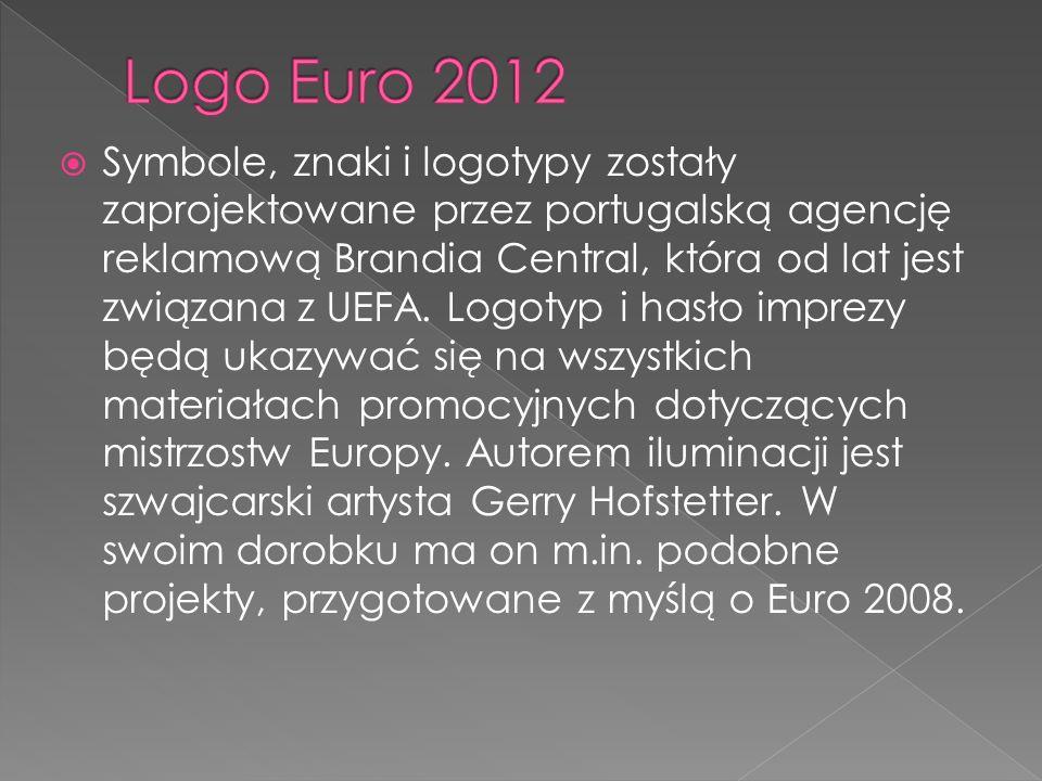 Symbole, znaki i logotypy zostały zaprojektowane przez portugalską agencję reklamową Brandia Central, która od lat jest związana z UEFA. Logotyp i has