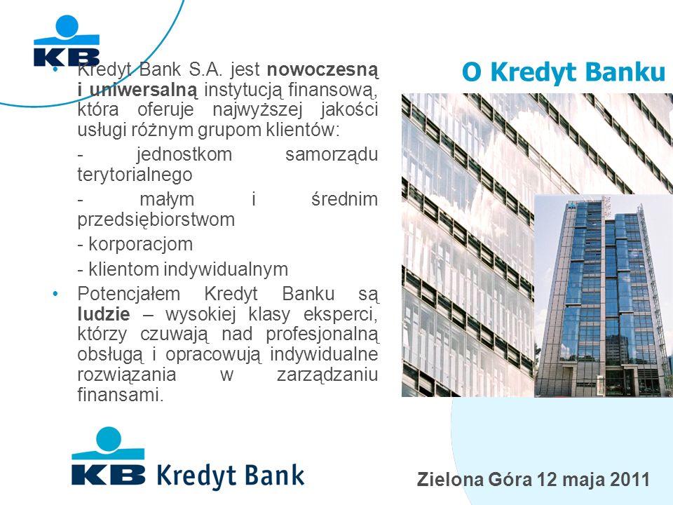 Zielona Góra 12 maja 2011 Grupa KBC w Polsce