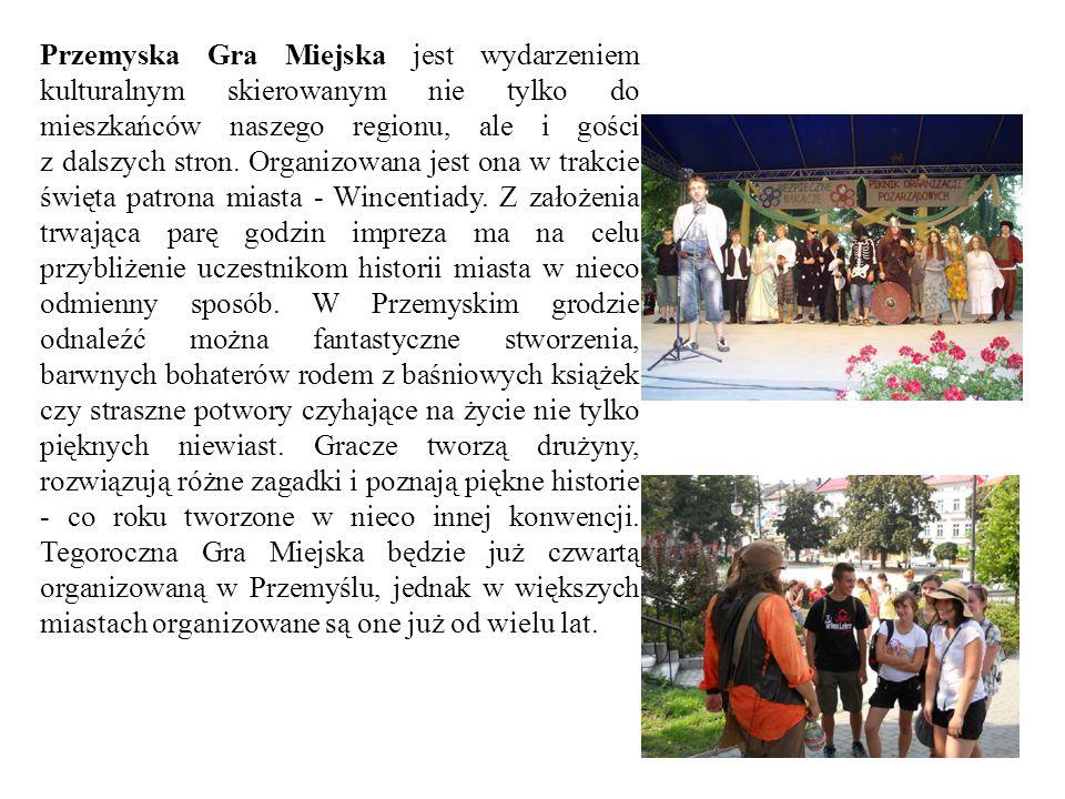 Przemyska Gra Miejska jest wydarzeniem kulturalnym skierowanym nie tylko do mieszkańców naszego regionu, ale i gości z dalszych stron. Organizowana je