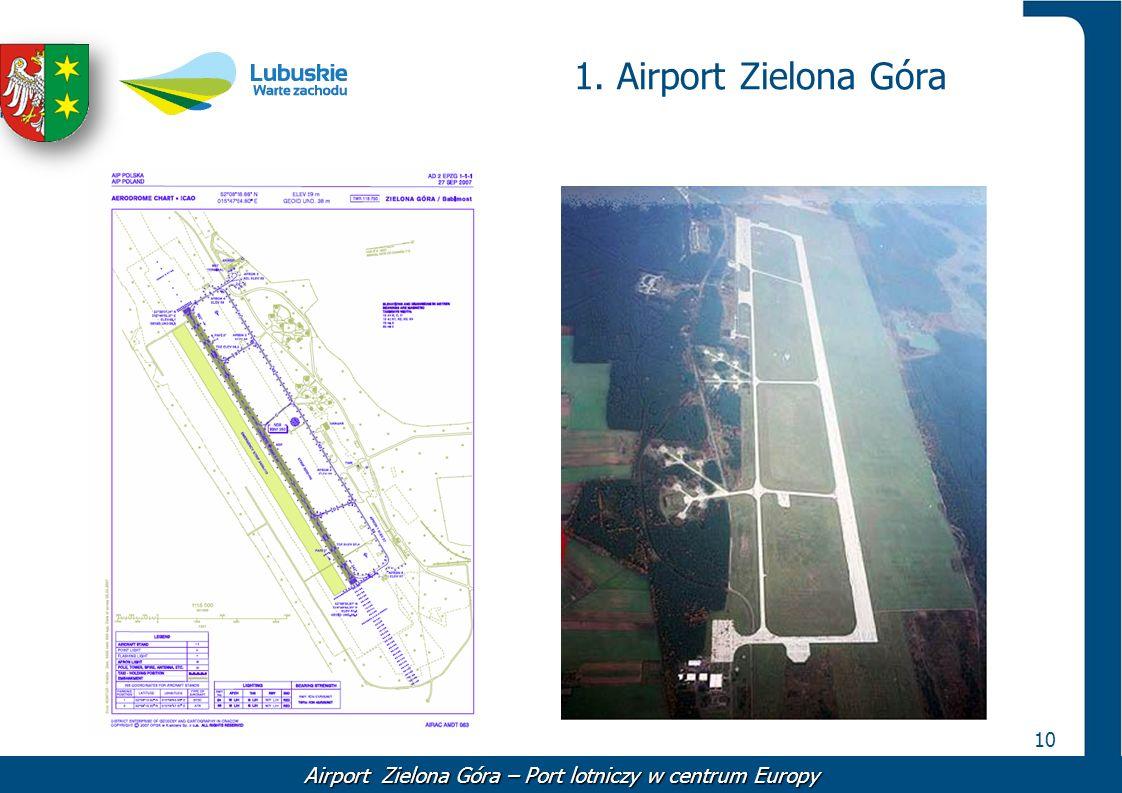 10 1. Airport Zielona Góra Airport Zielona Góra – Port lotniczy w centrum Europy
