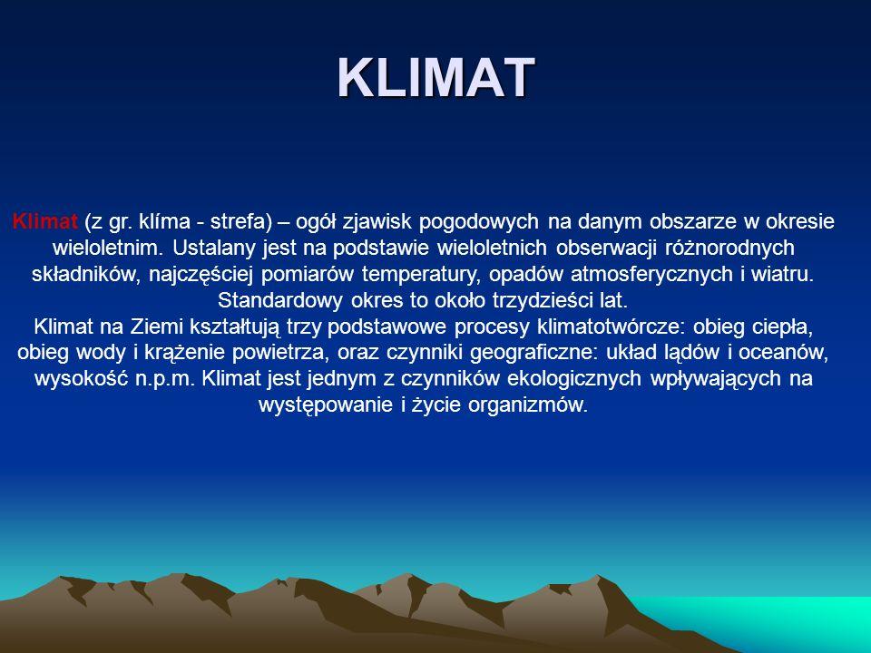 Klimat zwrotnikowy Klimat zwrotnikowy - w klasyfikacji klimatów Okołowicza, jedna z 5 głównych stref klimatycznych, obejmująca obszary kuli ziemskiej w okolicach obu zwrotników.