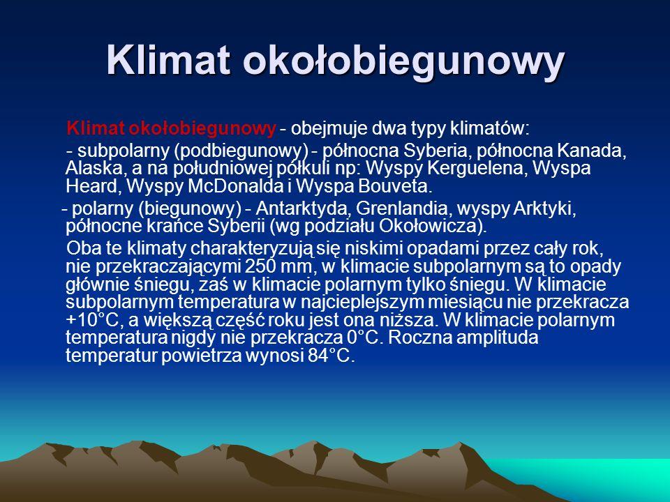 Klimat okołobiegunowy - Krajobraz