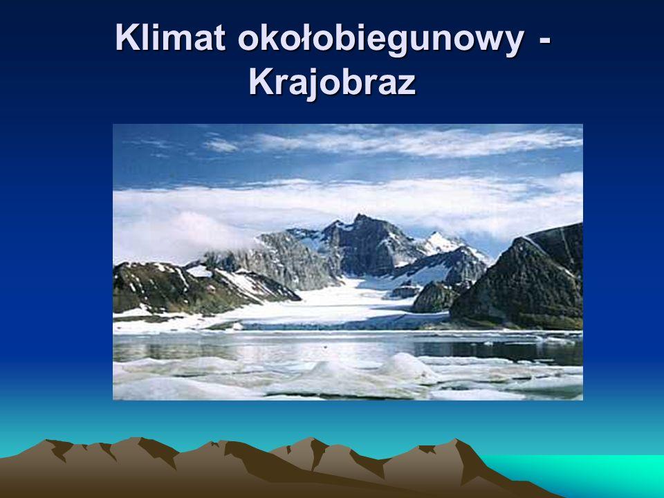 Charakterystyka klimatu subpolarnego: pojawia się zjawisko dnia i nocy polarnej brak klimatycznego lata (2-3 miesiące temp.