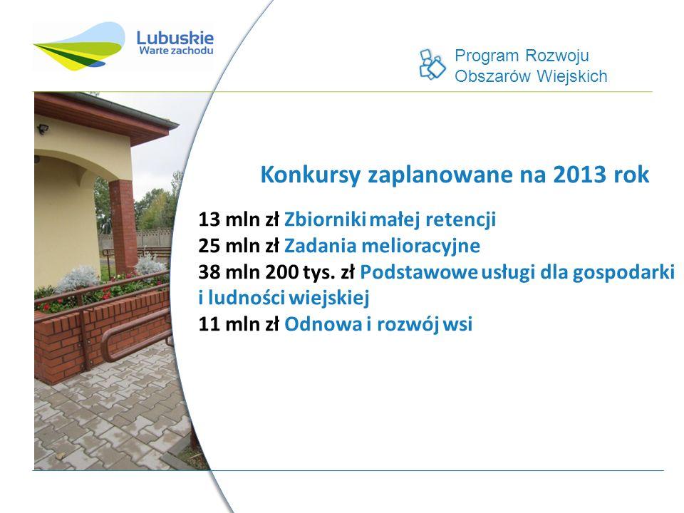 Program Rozwoju Obszarów Wiejskich 527 mln 500 tys.
