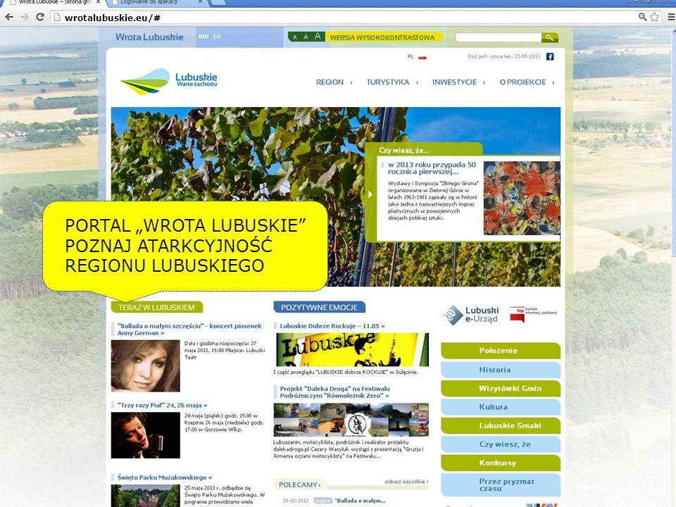 PORTAL WROTA LUBUSKIE POZNAJ ATARKCYJNOŚĆ REGIONU LUBUSKIEGO wrotalubuskie.eu/#