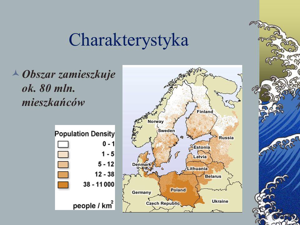Charakterystyka Obszar zamieszkuje ok. 80 mln. mieszkańców