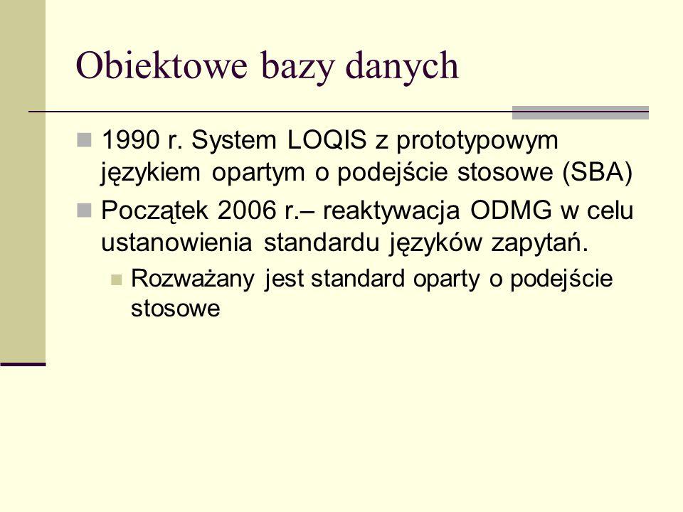 Obiektowe bazy danych 1990 r.