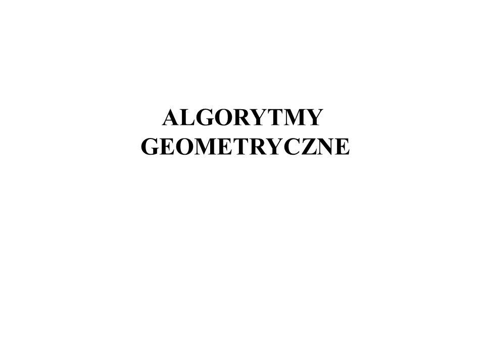 ALGORYTMY GEOMETRYCZNE