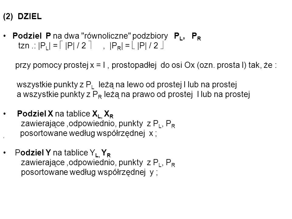 (2) DZIEL Podziel P na dwa
