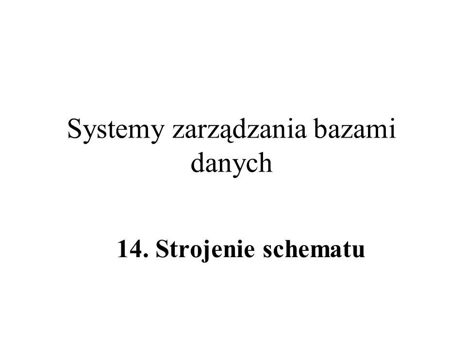 Systemy zarządzania bazami danych 14. Strojenie schematu