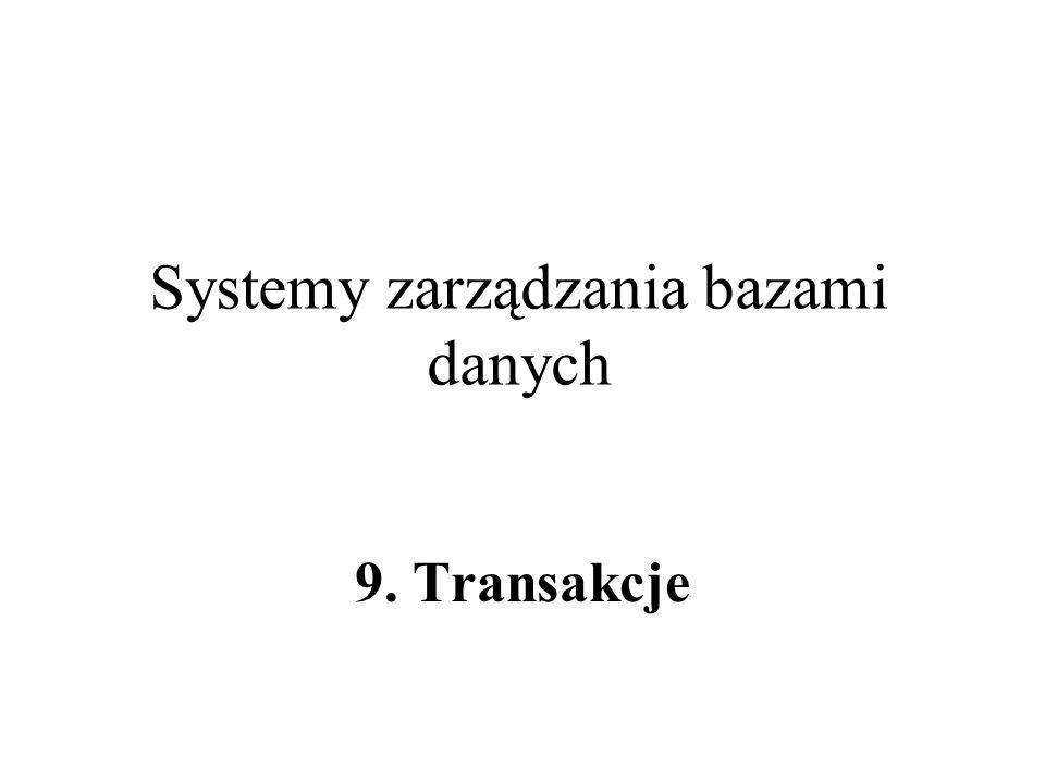 Systemy zarządzania bazami danych 9. Transakcje