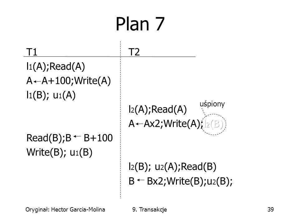 Oryginał: Hector Garcia-Molina9. Transakcje39 uśpiony Plan 7