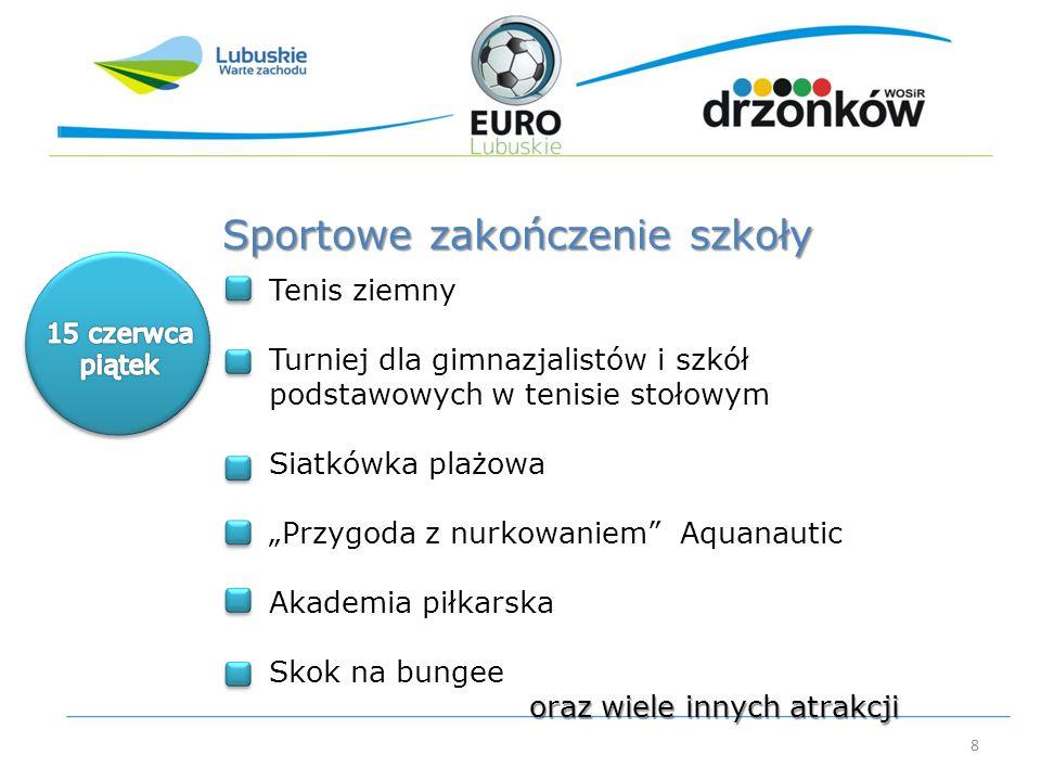 8 Tenis ziemny Turniej dla gimnazjalistów i szkół podstawowych w tenisie stołowym Siatkówka plażowa Przygoda z nurkowaniem Aquanautic Akademia piłkars