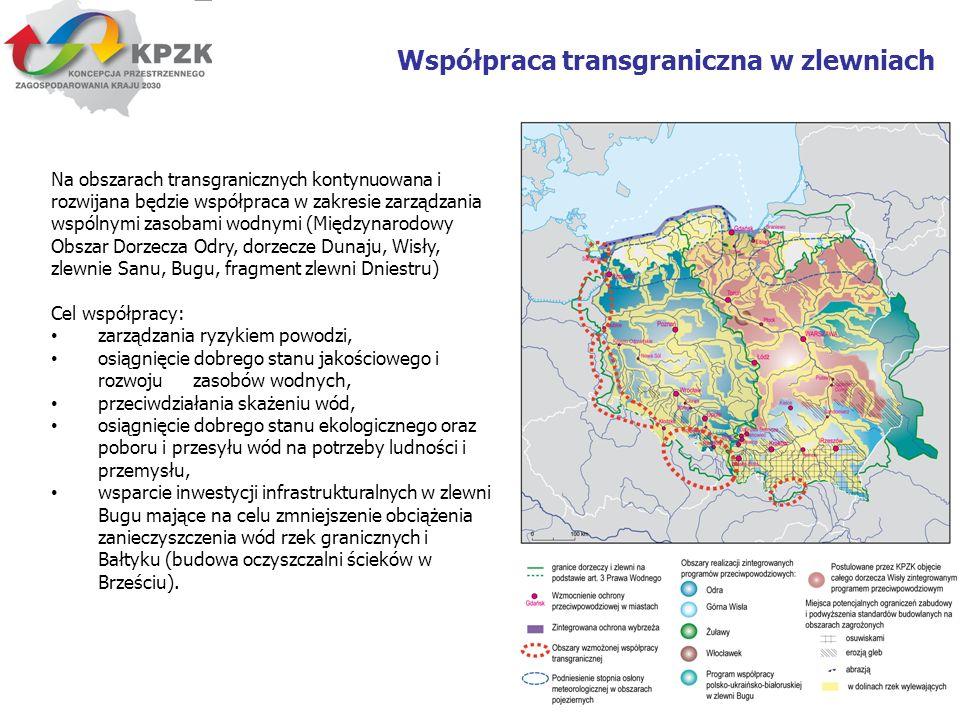 16 Współpraca transgraniczna w zlewniach Na obszarach transgranicznych kontynuowana i rozwijana będzie współpraca w zakresie zarządzania wspólnymi zas