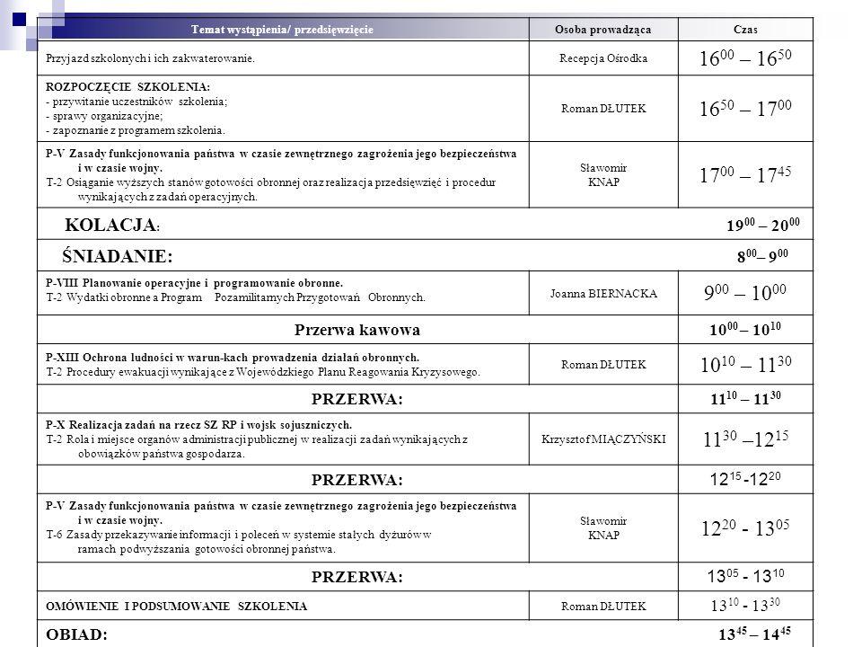 PROGRAM SZKOLENIA Konferencji Wojewódzkiej dla przedstawicieli, starostw powiatowych, miast na prawach powiatu, burmistrzów i wójtów województwa pomor