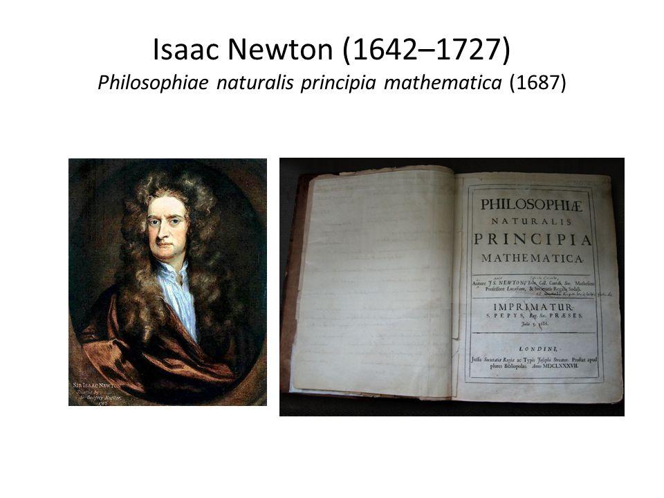 Isaac Newton (1642–1727) Philosophiae naturalis principia mathematica (1687)