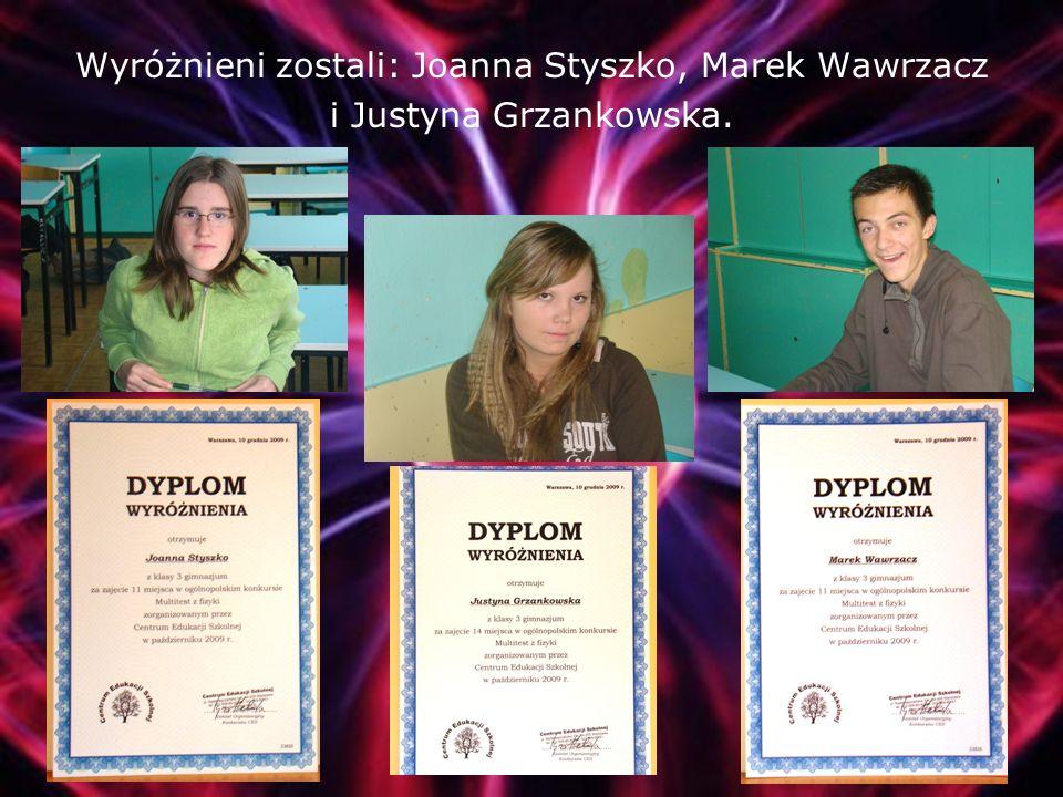 Stanisław Bieniecki uczeń klasy IIIa wyprzedził 300 osób zajmując pierwsze miejsce w Polsce z liczbą 196 punktów.