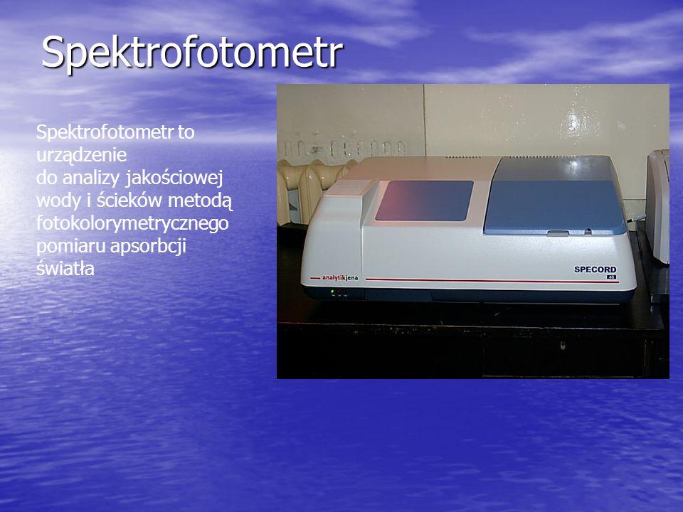 Spektrofotometr Spektrofotometr to urządzenie do analizy jakościowej wody i ścieków metodą fotokolorymetrycznego pomiaru apsorbcji światła