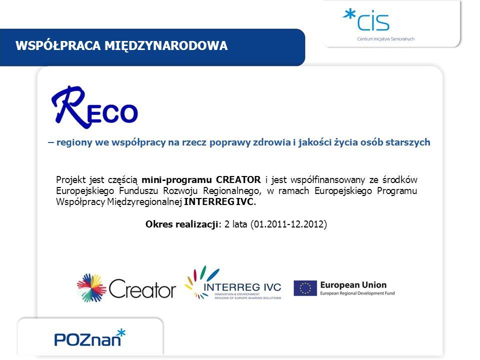 Projekt jest częścią mini-programu CREATOR i jest współfinansowany ze środków Europejskiego Funduszu Rozwoju Regionalnego, w ramach Europejskiego Prog