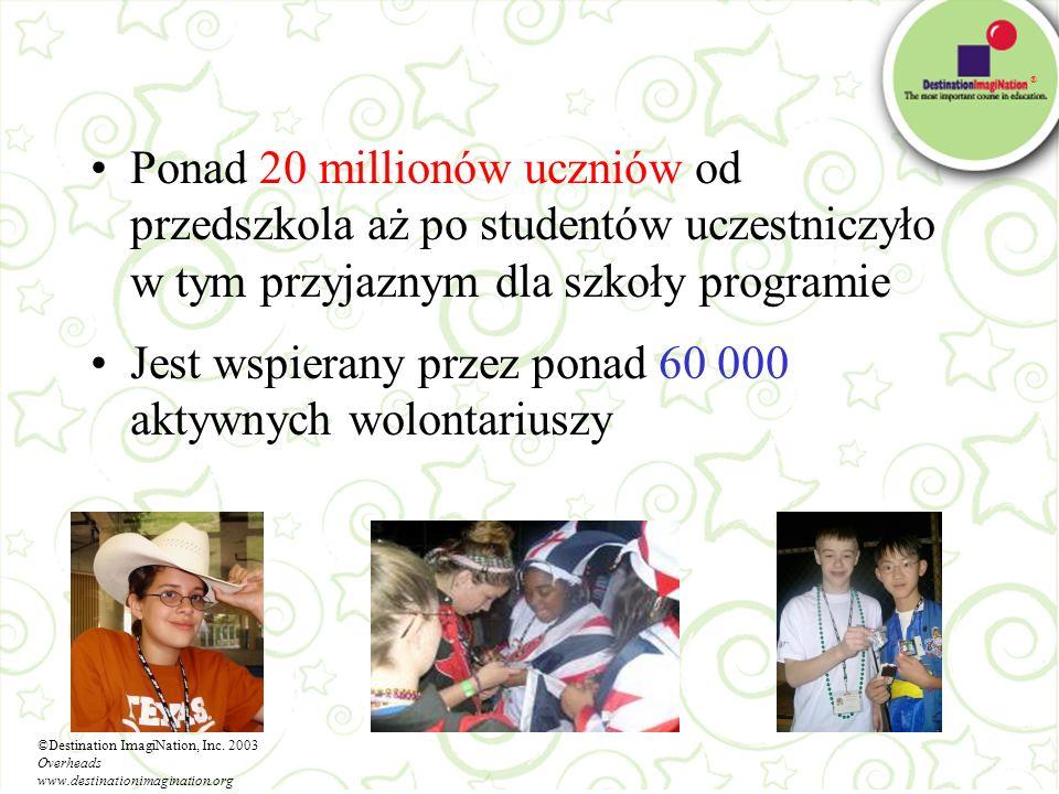 ® Ponad 20 millionów uczniów od przedszkola aż po studentów uczestniczyło w tym przyjaznym dla szkoły programie Jest wspierany przez ponad 60 000 akty