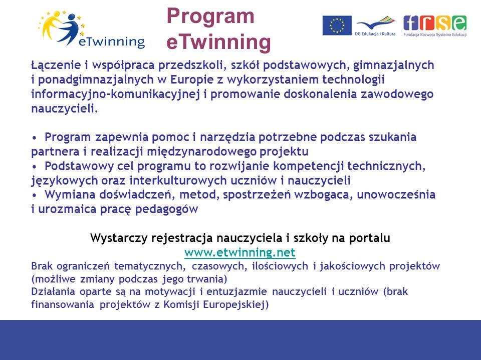 Program eTwinning Łączenie i współpraca przedszkoli, szkół podstawowych, gimnazjalnych i ponadgimnazjalnych w Europie z wykorzystaniem technologii inf