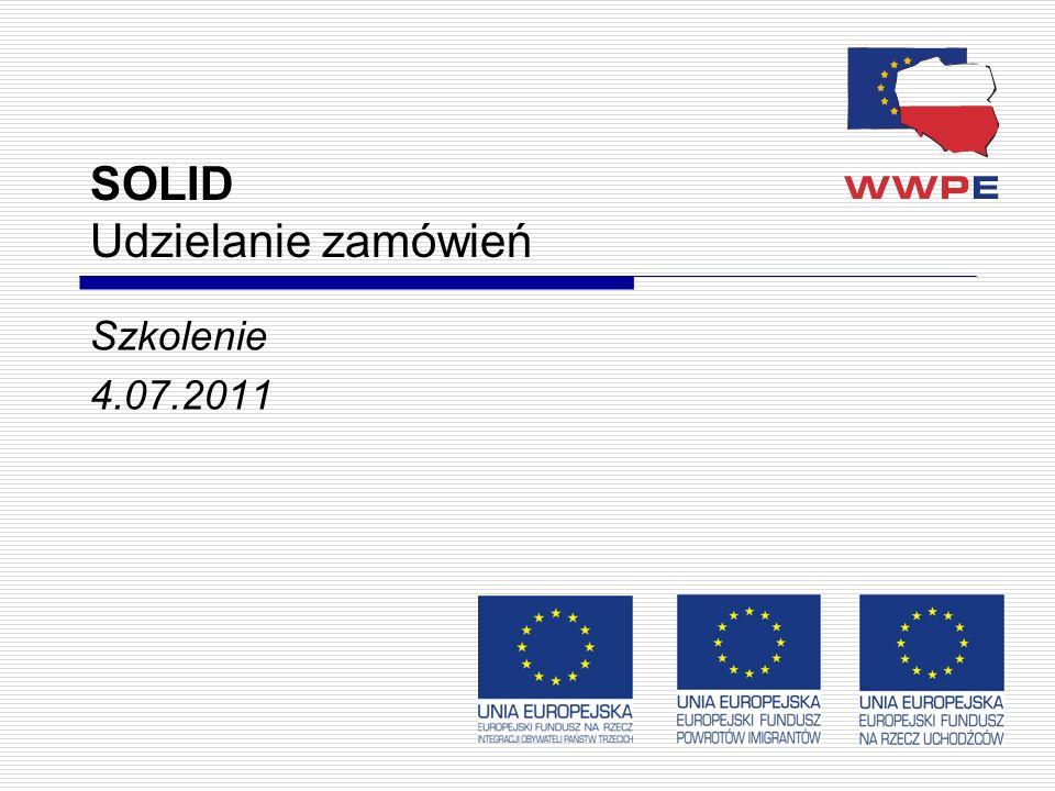 1 SOLID Udzielanie zamówień Szkolenie 4.07.2011