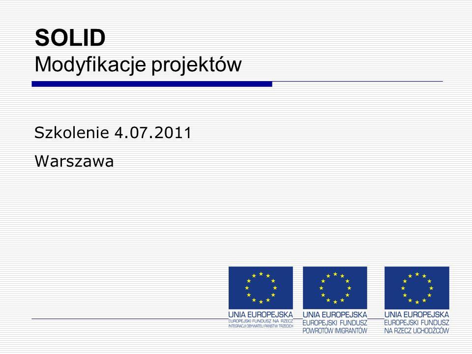 14 SOLID Modyfikacje projektów Szkolenie 4.0 7.201 1 Warszawa
