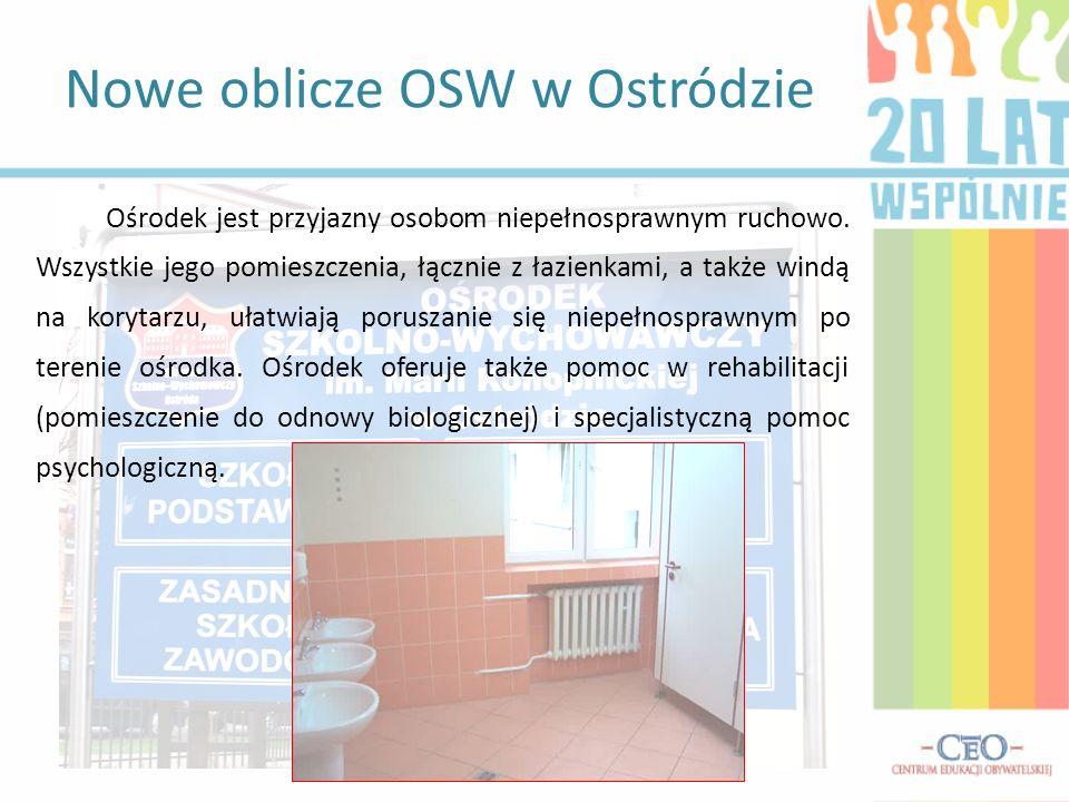 Ośrodek jest przyjazny osobom niepełnosprawnym ruchowo. Wszystkie jego pomieszczenia, łącznie z łazienkami, a także windą na korytarzu, ułatwiają poru