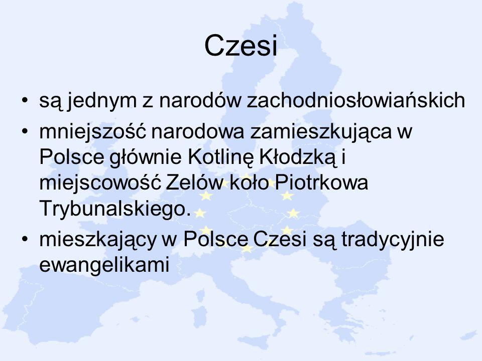 Czesi są jednym z narodów zachodniosłowiańskich mniejszość narodowa zamieszkująca w Polsce głównie Kotlinę Kłodzką i miejscowość Zelów koło Piotrkowa