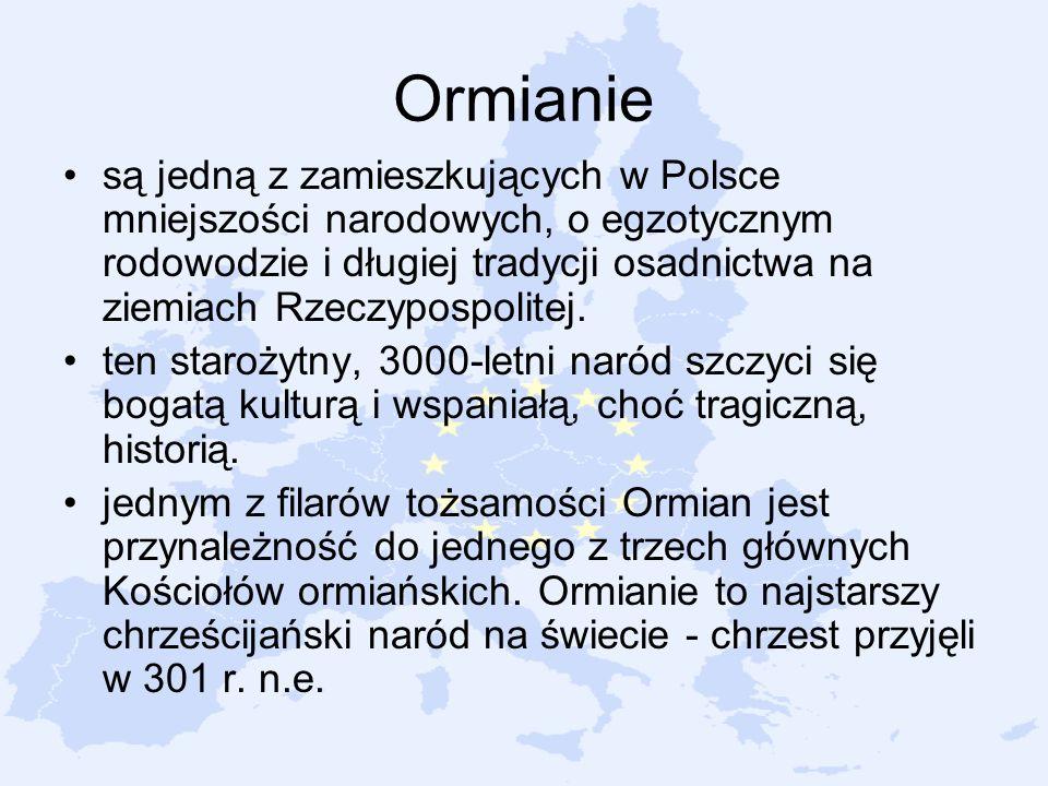 Ormianie są jedną z zamieszkujących w Polsce mniejszości narodowych, o egzotycznym rodowodzie i długiej tradycji osadnictwa na ziemiach Rzeczypospolit