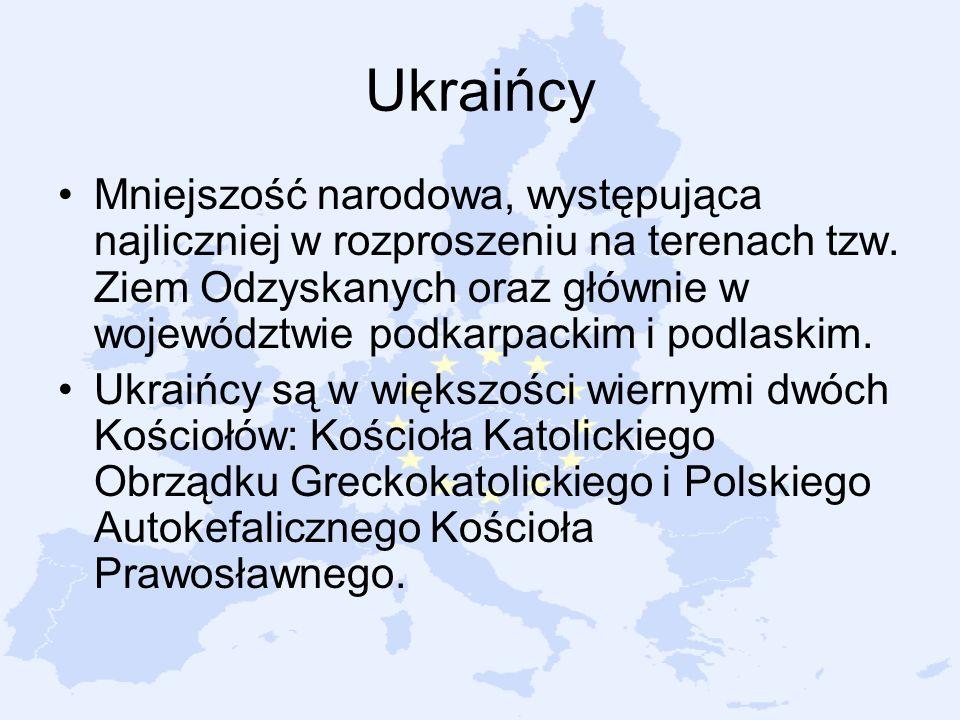 Mniejszość narodowa, występująca najliczniej w rozproszeniu na terenach tzw. Ziem Odzyskanych oraz głównie w województwie podkarpackim i podlaskim. Uk