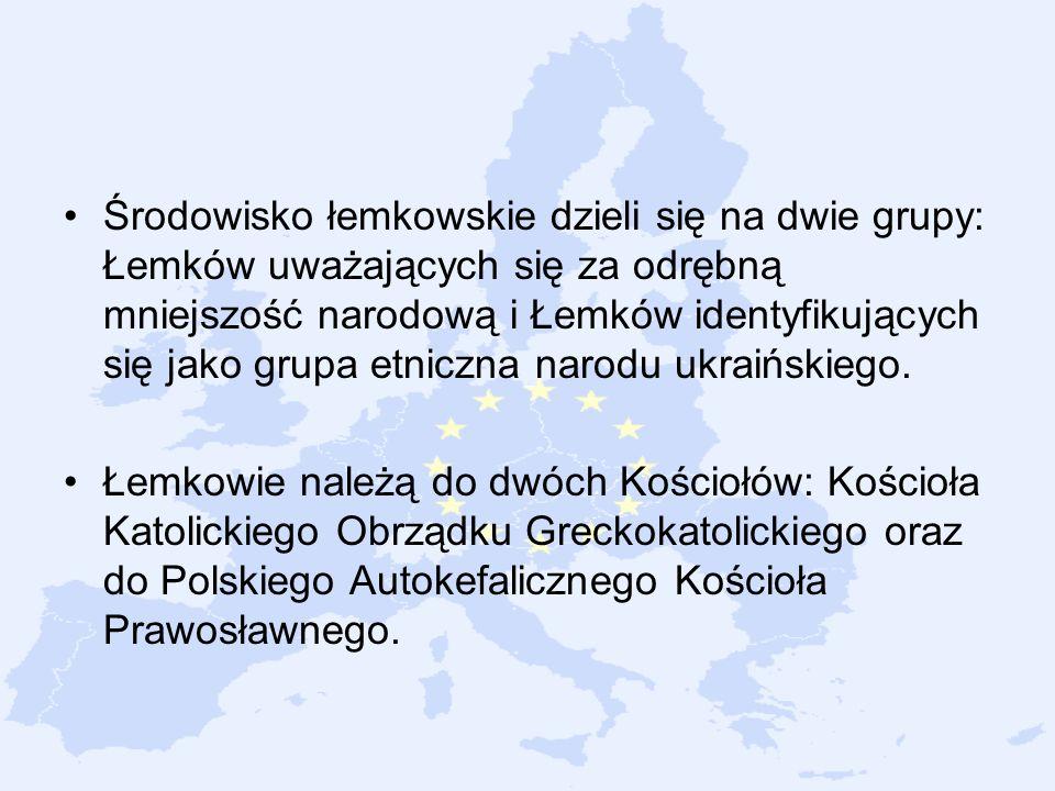 Środowisko łemkowskie dzieli się na dwie grupy: Łemków uważających się za odrębną mniejszość narodową i Łemków identyfikujących się jako grupa etniczn
