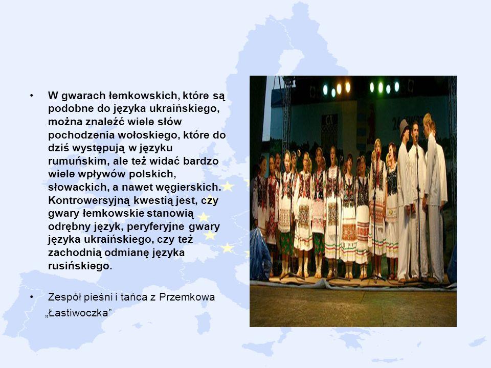 W gwarach łemkowskich, które są podobne do języka ukraińskiego, można znaleźć wiele słów pochodzenia wołoskiego, które do dziś występują w języku rumu