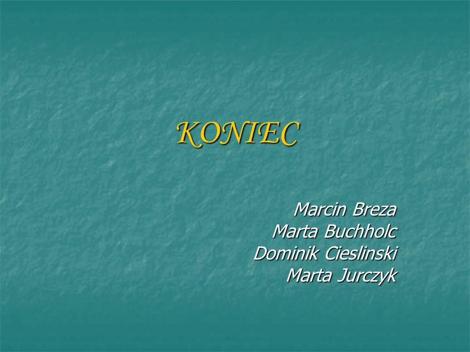 KONIEC Marcin Breza Marta Buchholc Dominik Cieslinski Marta Jurczyk