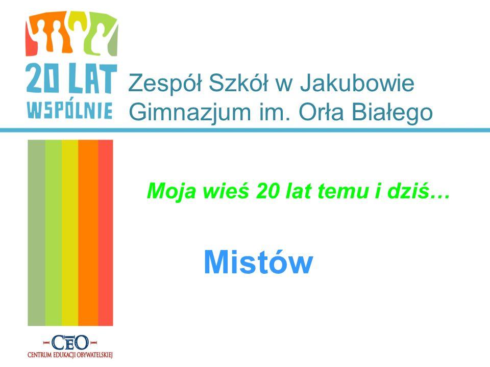 Zespół Szkół w Jakubowie Gimnazjum im. Orła Białego Moja wieś 20 lat temu i dziś… Mistów