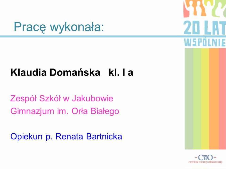 Klaudia Domańska kl.I a Zespół Szkół w Jakubowie Gimnazjum im.
