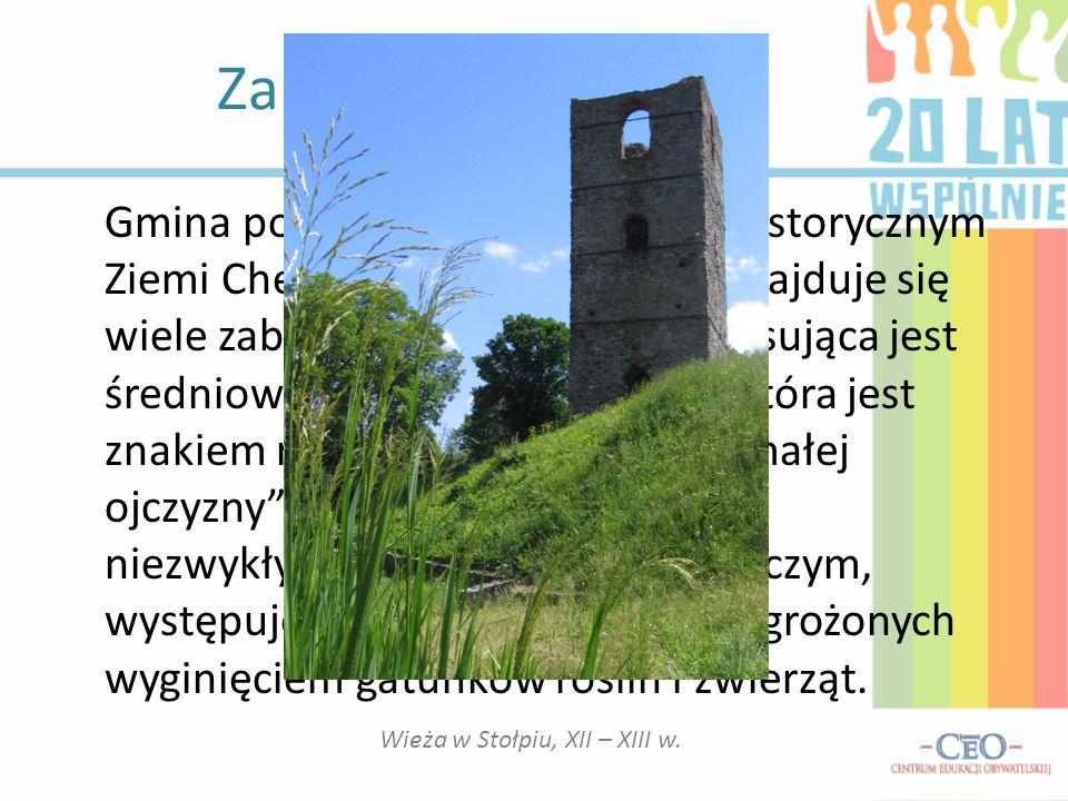 Informacje ogólne o gminie Siedziba urzędu Gminy Chełm o Gmina Chełm zajmuje powierzchnię 221,82h i położona jest w południowo – zachodniej części pow