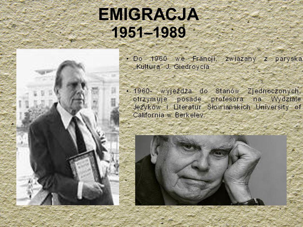 EMIGRACJA 1951–1989
