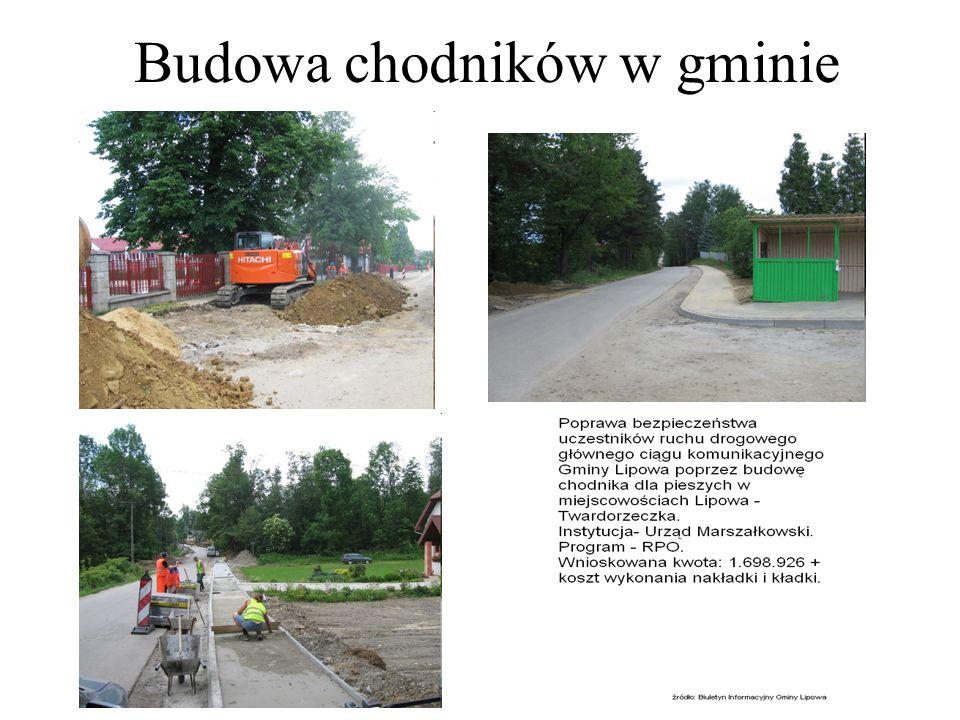 Budowa chodników w gminie