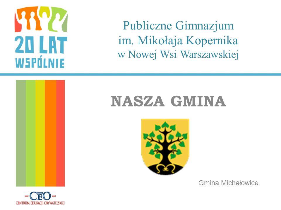 Publiczne Gimnazjum im. Mikołaja Kopernika w Nowej Wsi Warszawskiej NASZA GMINA Gmina Michałowice