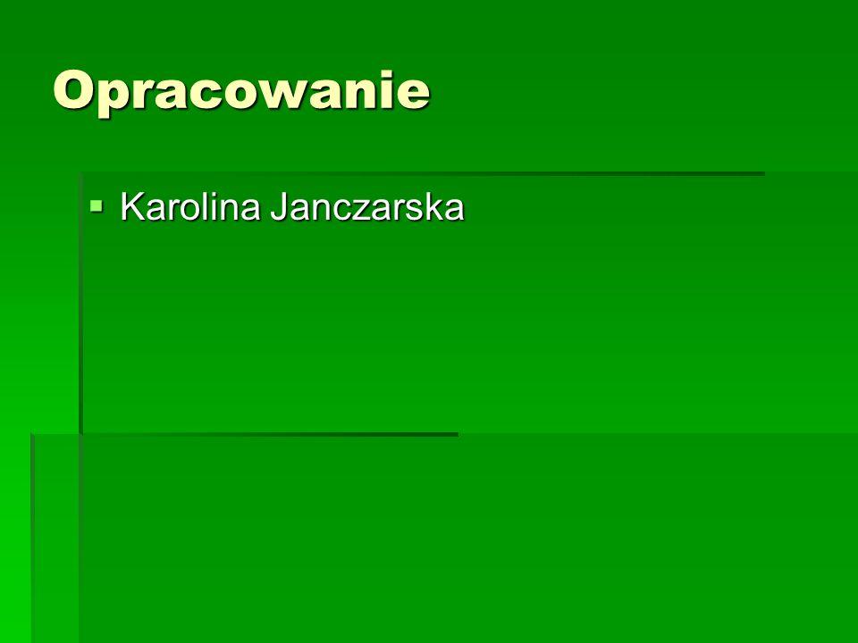 Opracowanie Karolina Janczarska Karolina Janczarska