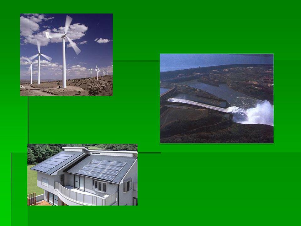 Energia słoneczna Jest to źródło energii odnawialnej, które wykorzystuje baterie słoneczne do przemiany promieniowania słonecznego w np.