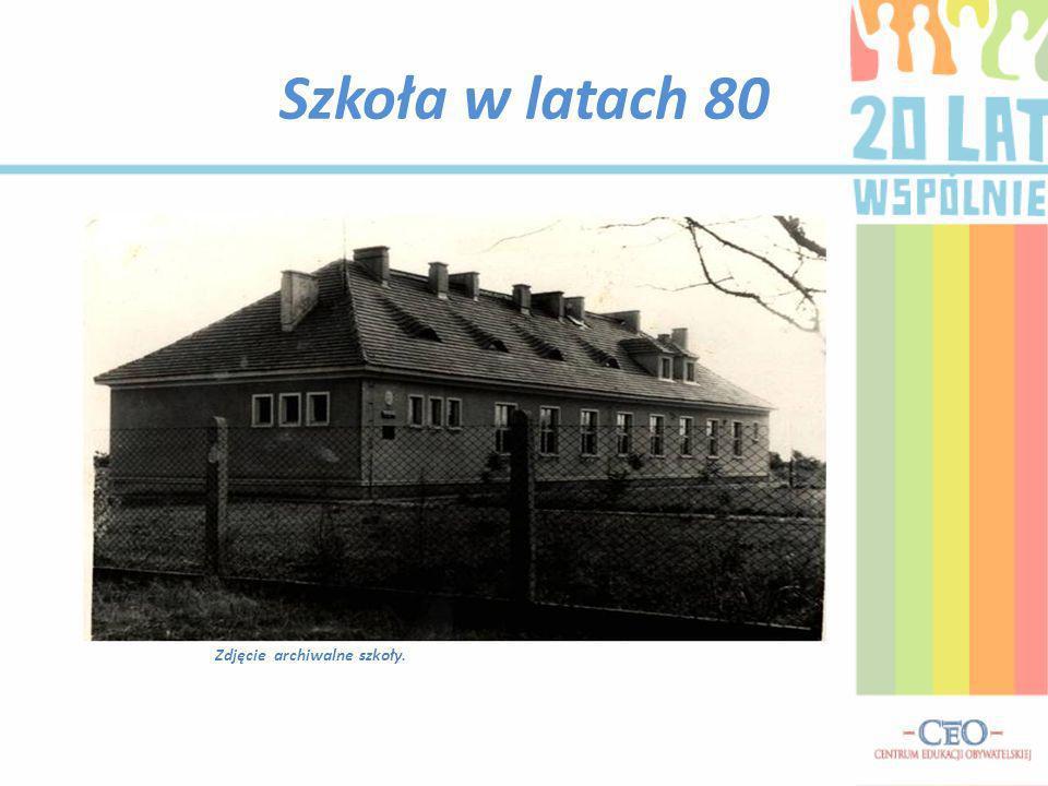Szkoła w latach 80 Zdjęcie archiwalne szkoły.